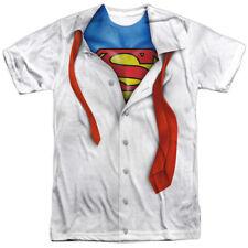 DC Comic I am Superman Costume Outfit Uniform Logo Underneath Allover T-shirt XL