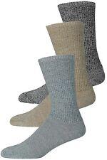 6 Pairs Boys/Mens Plain Ribbed Work Boot UK Made Socks Size 4-7