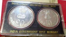 India-republic 20 & 10 Rupees, 1973, F.A.O. grow more food unc coins set