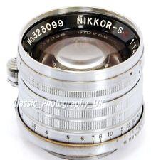 Nikkor-S.C 1:1 .4 f = 5 cm RARE!!! LEICA LTM screw mount lens par Nippon Kogaku Japon