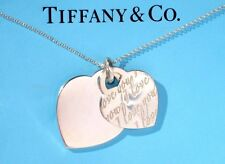 Tiffany & Co Plata De Ley Notas I Love You Doble Collar Corazón