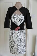 Mireia Mother of Bride Wedding Guest Cream Black size 14 Dress Jacket worn once