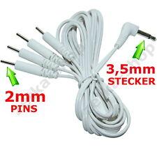 120cm Elektroden Kabel 4 Wege 3,5mm Steckverbindung TENS Geräte Elektrodenkabel