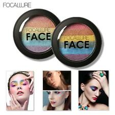 Focallure Rainbow Highlight Eyeshadow Palette Baked Blush Face Shimmer Color