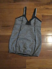 LULULEMON LIGHT UP TANK IN BLACK AND GREY WAFS SIZE 4