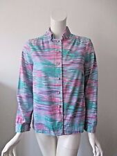 Vintage EVA for Robert Janan ITALY Multi Color Stripe Button Shirt fits 10 /12