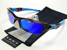 Oakley Flak Jacket Rootbeer Blue Violet Polarized Sonnenbrille Fast Straight Eye