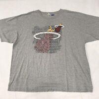 🌴NBA Miami Heat Basketball Men's 3XL Gray Short Sleeve Graphic T-Shirt🌴