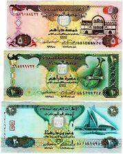 Burundi 3 Note Set: 10 01.11.2007 p27d /& p36g - p33e 20 /& 50 Francs