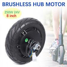 "Electric Scooter Hub Wheel Motor 24V Dc Brushless Toothless 8"" Wheel 250W"