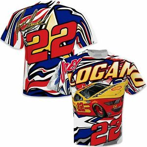 Joey Logano 2021 CFS #22 Pennzoil/Shell Sublimated Patriotic Total Print Tee