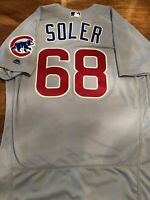 Jorge Soler Game Issued 2016 Cubs World Series Season Jersey MLB HOLOGRAM