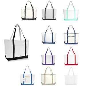 "DALIX 23"" Premium 24 oz. Cotton Canvas Shopping Tote Bag"