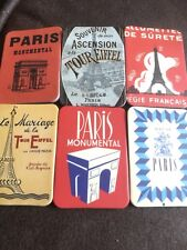 Job Lot Of 6 New PARIS French Themed Fridge Magnets All Different Retro Style