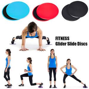 2PCS Gym Training Fitness Exercise Glider Slide Discs Core Slider Workout New
