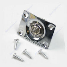For Gibson Guitar Jack Plate Socket Epiphone Guitar Part Chrome Rectangle Output