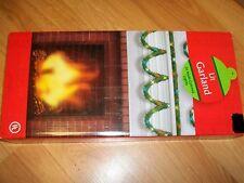 CHRISTMAS GARLAND LIT (50 MULTI COLOR LIGHTS)