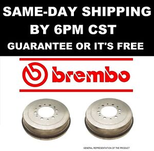 BREMBO 2x GENUINE BREMBO 14.A698.10 14A69810 Rear Brake Disc Drum Pair Set 21130