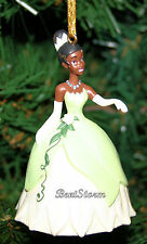 2013 NEW Disney Princess Tiana and the Frog Green Dress Christmas Ornament PVC