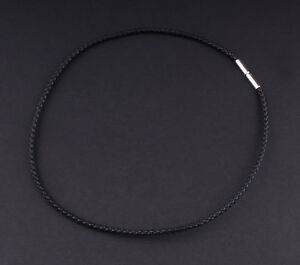GEORG JENSEN Weaved Chain / Cord with Sterling Silver 50 cm. 3532807. NEW!