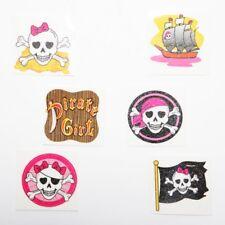 Fun Express - Pink Pirate Glitter Tattoos - Set Of 36 Assorted Tattoos