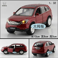 Free shipping 1:32 Honda Crv Alloy Diecast Car Model Toy Sound&Light Red B2121