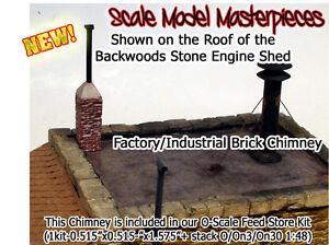 Scale Model Masterpieces/Yorke Factory Blacksmith Brick Chimney On30