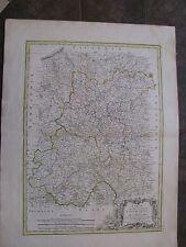 1780 Original Lg Map L'Isle De France, Paris, De L'Orleanois, France