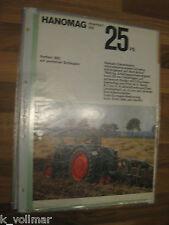 ✪✪✪Prospekt INFO/Blatt/Broschüre Hanomag Perfekt 300 25 PS  Schlepper