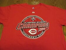 CINCINNATI REDS 2010 NL CENTRAL DIVISION CHAMPS WITH ROSTER T-SHIRT-XL RARE