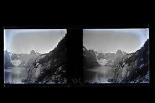 Croisière Arctique Norvège ? Photo amateur Plaque stéréo NÉGATIF