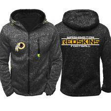 Football Team Washington Redskins Fan Hoodie Zip Up coat Classic Sweatshirt Gift