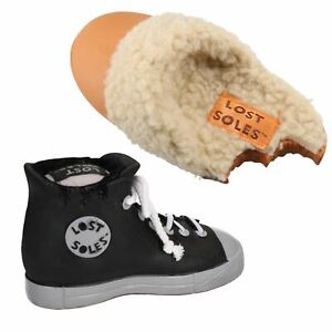 Vinyl Lost Soles Sneaker & Slipper Dog Toy Bundle With Squeak