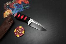 NEW! Snody Custom Rocky Moutain Ninja Red Knife 154CM Buffalo Leather Sheath