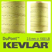 KEVLAR DuPont RAW YELLOW 1000 LB 2.5mm 100FT 30M LINE BRAIDED WIRE KITE FISHING
