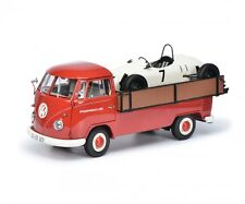 "#450037100 - schuco vw t1b westfalia-pick-up ""porsche"" avec voiture de course - 1:18"