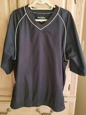 FootJoy Fj Black Short Sleeve Pullover Packable Jacket, Large