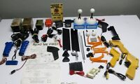 HUGE UNTESTED LOT OF VINTAGE TOY SLOT CAR PARTS AND ACCESSORIES  / MUST SEE!!