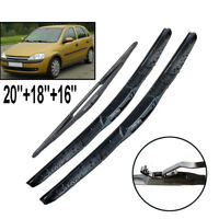 Front Rear Windshield Wiper Blades Set For Opel Corsa C 00 01 02 03 04 05 06