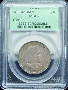 1892 COLUMBIAN EXPOSITION COMMEMORATIVE HALF DOLLAR PCGS MS 62#H244