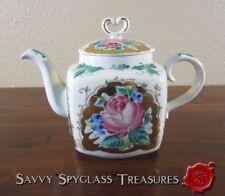 Vintage Russian Imperial Porcelain Factory Lomonosov Roses & Gold Teapot