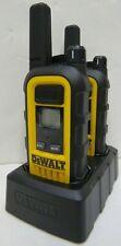 DEWALT DXFRS800 FRS 2-Way 2W Jobsite Heavy-Duty Walkie-Talkie Radio Set 2-Pack