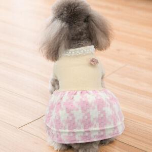 Fleece Dog Dress Doggie Clothes Puppy Vest Coat Skirt Pet Cat Apparel Outfit