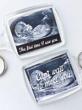 Baby Scan Ultrasound Keyring Keepsake Gift Parents Mum to Be Dad to Be
