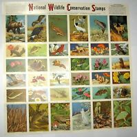1956 National Wildlife Conservation Stamps Full Sheet Intact.