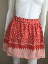 SALE Women's Old Navy Coral & White Printed Flared Mini Skirt, Size M, Pre-Owned
