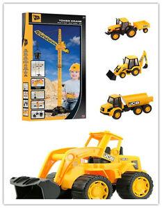 JCB Construction Series - Wheel loader,Remote control Crane,dumptruck,tractor
