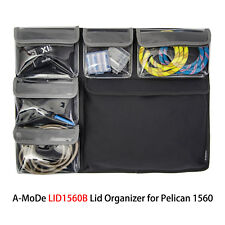 Lid Organizer for Fits Pelican 1560 air case. 1564 1569 computer no case padded