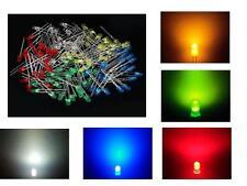 MIX 25 LED DIODI 3mm bianchi blu rossi verdi gialli luce diffusa arduino cs pc *