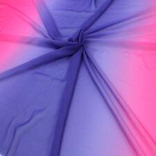 2-tone gradual gradient chiffon 100D fabric shaded color stage fabric 1 yard